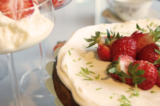 mascarponekräm jordgubbar